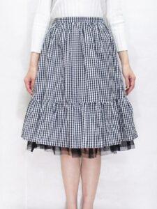 エムズグレイシーのミモレ丈スカート